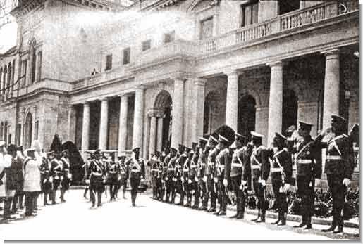 Посещение Государем Императором Николаем II крымского полка в Ливадии.